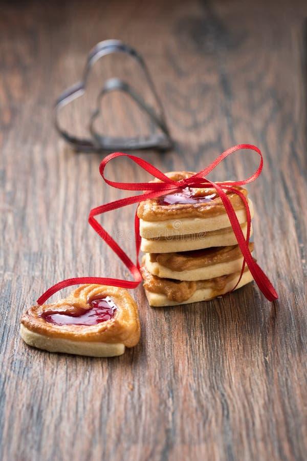 Biscotto con gelatina fotografia stock libera da diritti