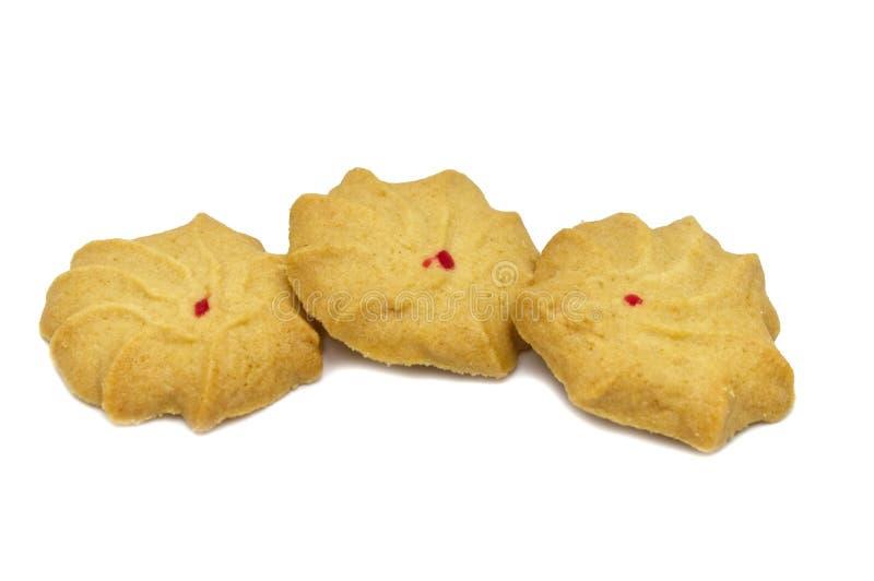 Biscotto con latte, burro e miele conditi Una pila di pasto dolce delizioso croccante e di biscotto utile fotografia stock