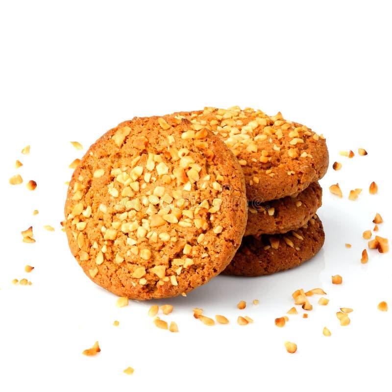 Biscotto con le briciole dell'arachide fotografia stock