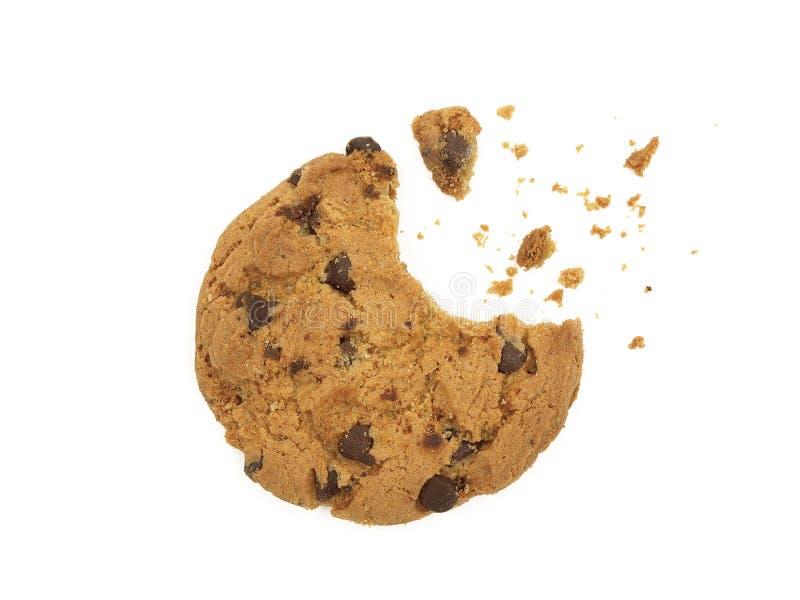 Biscotto con un morso fotografia stock libera da diritti