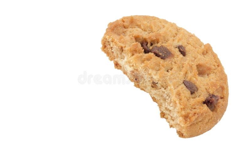Biscotto del biscotto con il morso fuori fotografie stock libere da diritti