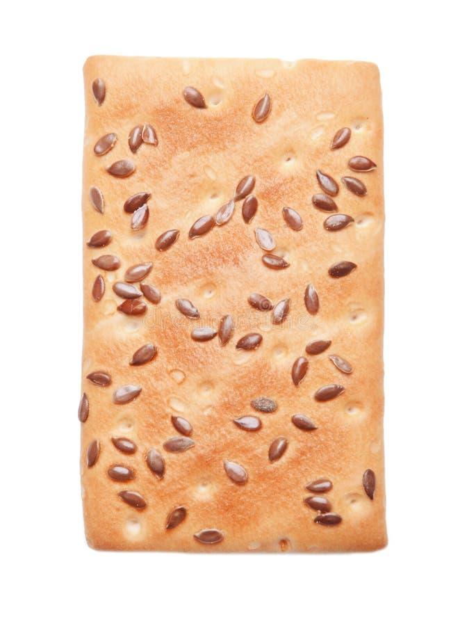 Biscotto del cereale su fondo fotografia stock libera da diritti