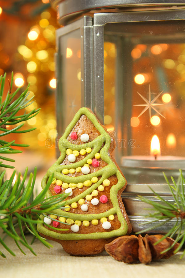 Biscotto dell'albero di Natale fotografie stock libere da diritti