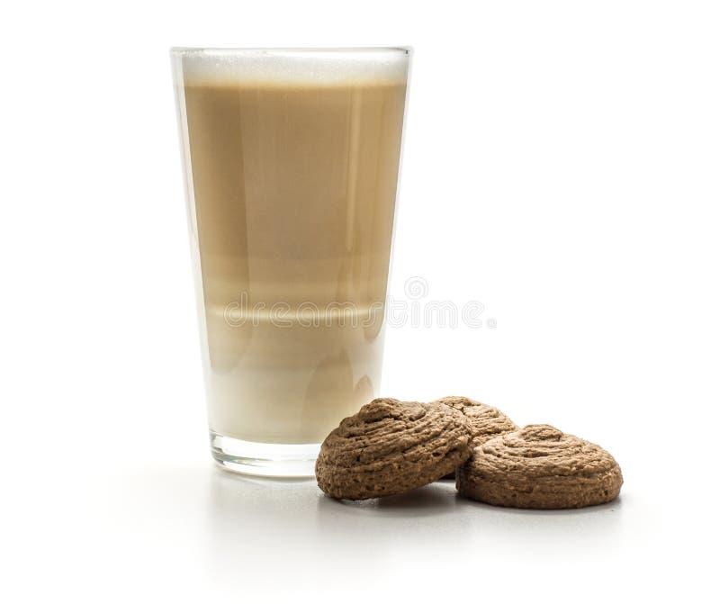 Biscotto dell'avena del cacao isolato su bianco fotografie stock