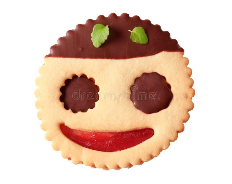 Biscotto dell'ostruzione tuffato cioccolato immagini stock libere da diritti