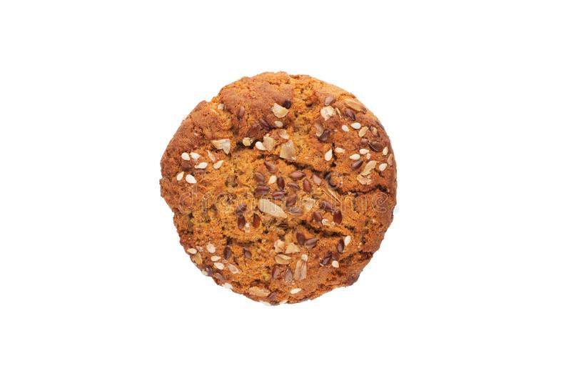 Biscotto di farina d'avena con sesamo e lino immagini stock libere da diritti