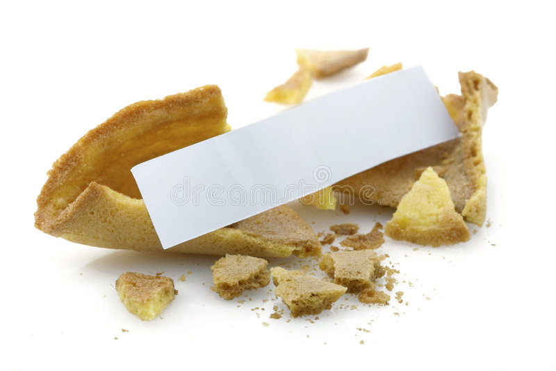 Biscotto di fortuna in bianco immagini stock
