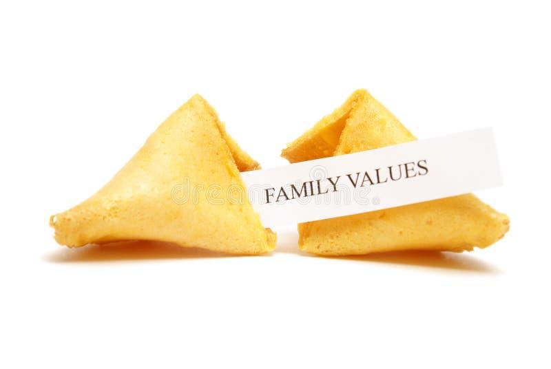 Biscotto di fortuna dei valori familiari fotografia stock libera da diritti