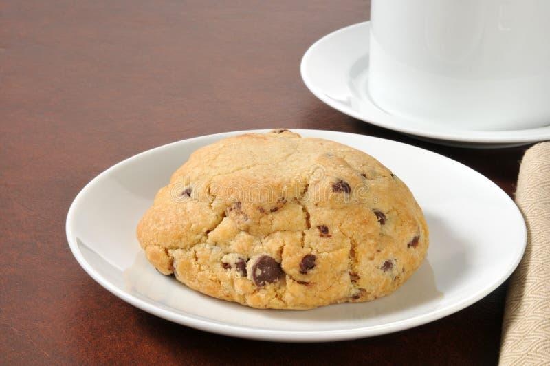 Biscotto di pepita di cioccolato gastronomico fotografia stock libera da diritti