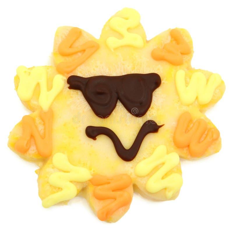 Biscotto di zucchero del sole fotografia stock