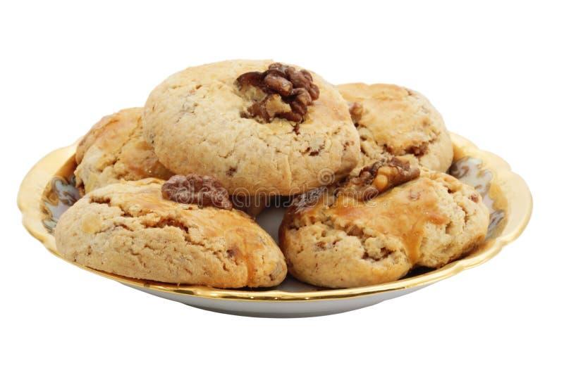 Biscotto dolce con la noce fotografia stock libera da diritti