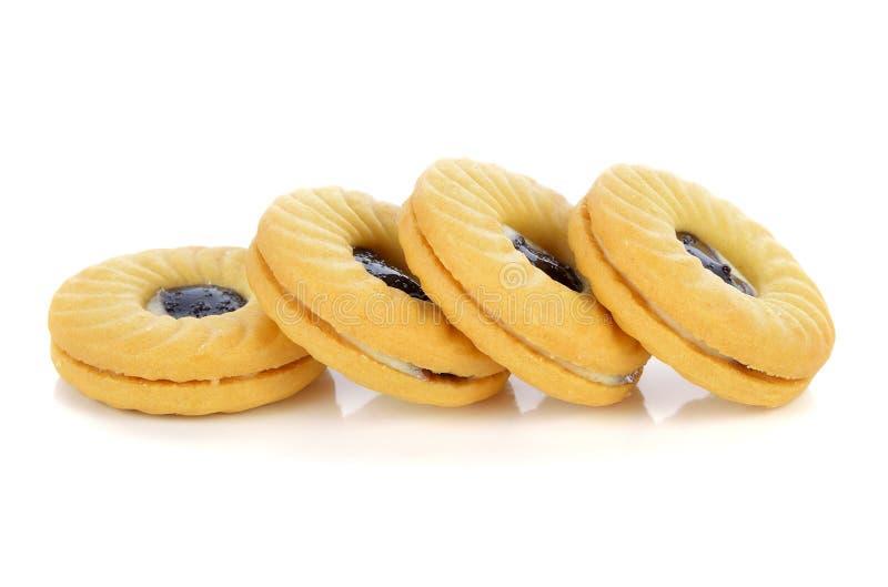 Biscotto isolato su bianco immagine stock libera da diritti