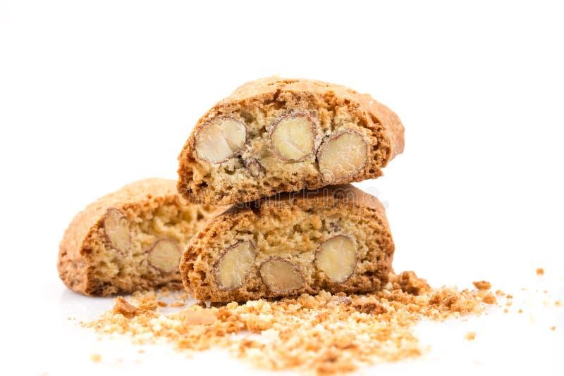 Biscotto italiano di cantuccini con la mandorla fotografie stock