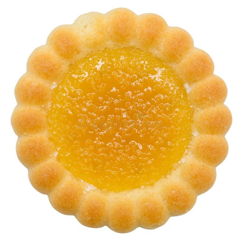 Biscotto riempito arancia fotografia stock