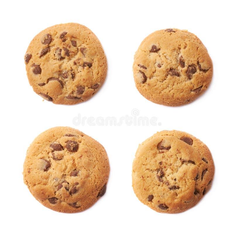 Biscotto rotondo con cioccolato fotografia stock libera da diritti
