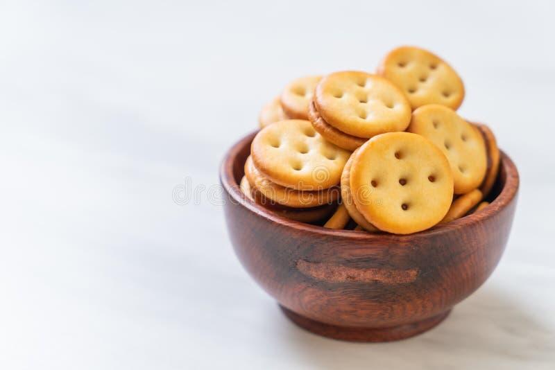 Biscuit avec de la confiture d'ananas photo stock