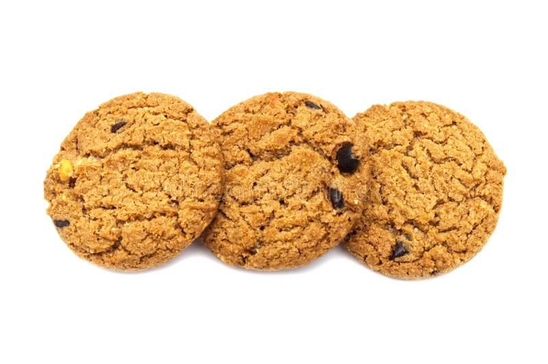 Biscuit avec du beurre de puce de chocolat image stock