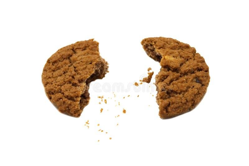 Biscuit avec du beurre, la noix de cajou et le miel de puce de chocolat assaisonnés photo stock
