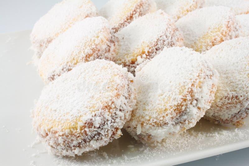 Biscuits avec dulce de leche images libres de droits