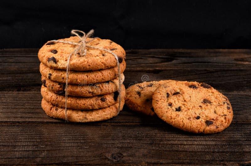 Biscuit avec le plan rapproché de chocolat image libre de droits