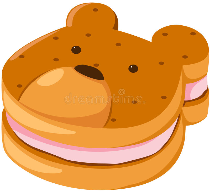 biscuit bear vector illustration