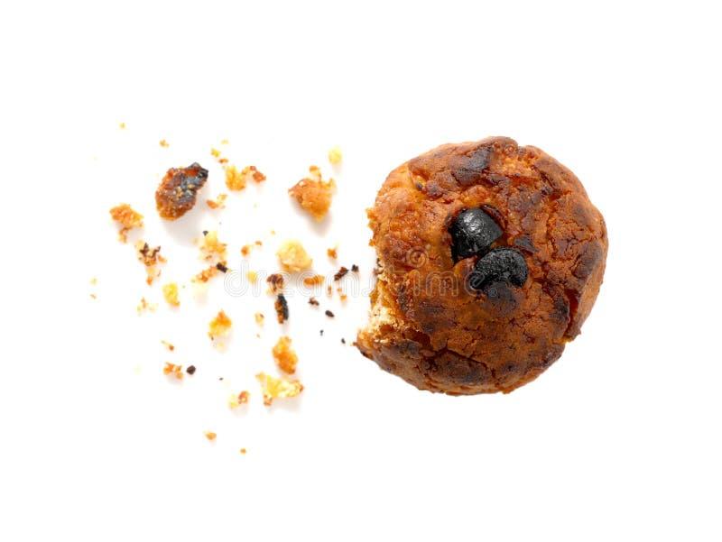 Biscuit brûlé de cornflake et de raisin sec images libres de droits