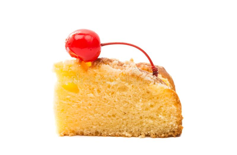 Biscuit cake isolated. On white background stock photos