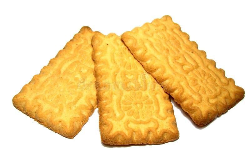 Biscuit carré d'isolement sur le blanc photographie stock