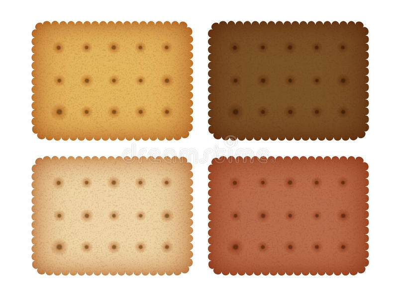 Biscuit Cookie Cracker Collection. Vector EPS10 stock illustration