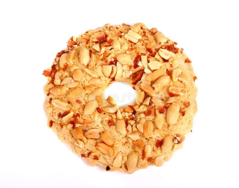 Biscuit couvert d'arachides photographie stock