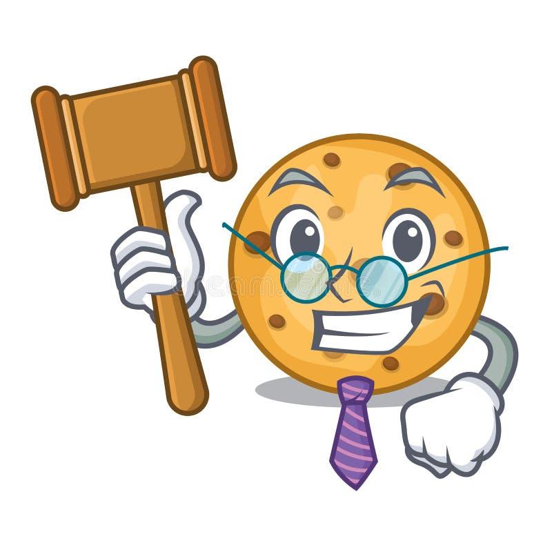 Biscuit d'avoine de juge d'isolement avec la bande dessinée illustration stock