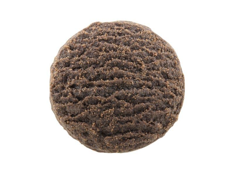 Biscuit de beurre de chocolat d'isolement sur le fond blanc photos stock