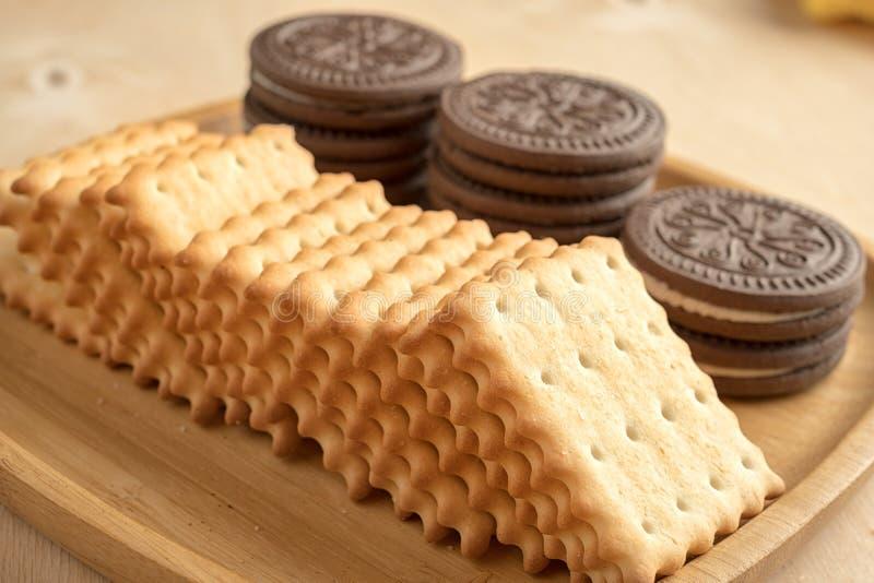 Biscuit de biscuit images stock