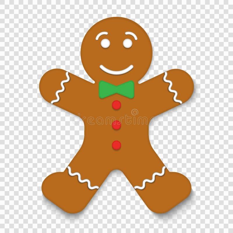 Biscuit de bonhomme en pain d'épice de Noël illustration libre de droits
