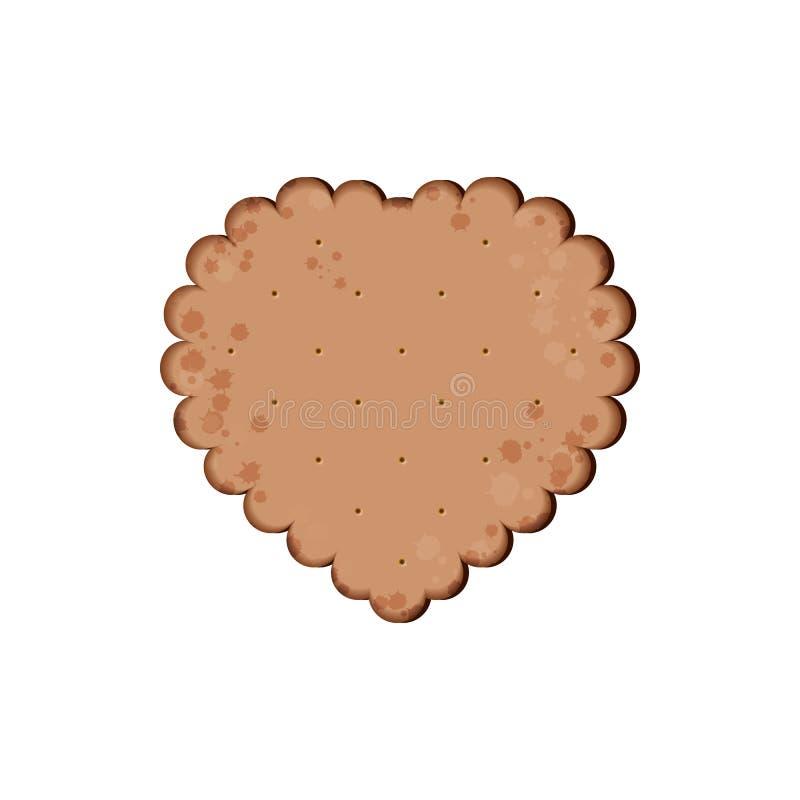 Biscuit de chocolat de santé biscuit d'isolement illustration libre de droits