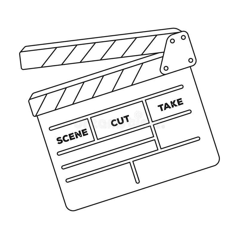 Biscuit de film En faisant à film l'icône simple dans le contour dénommez le Web d'illustration d'actions de symbole de vecteur illustration libre de droits