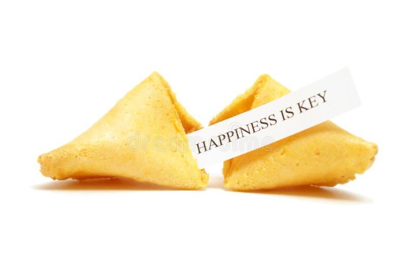 Biscuit de fortune de bonheur photographie stock