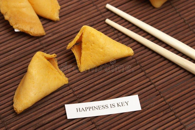 Biscuit de fortune de bonheur photo stock