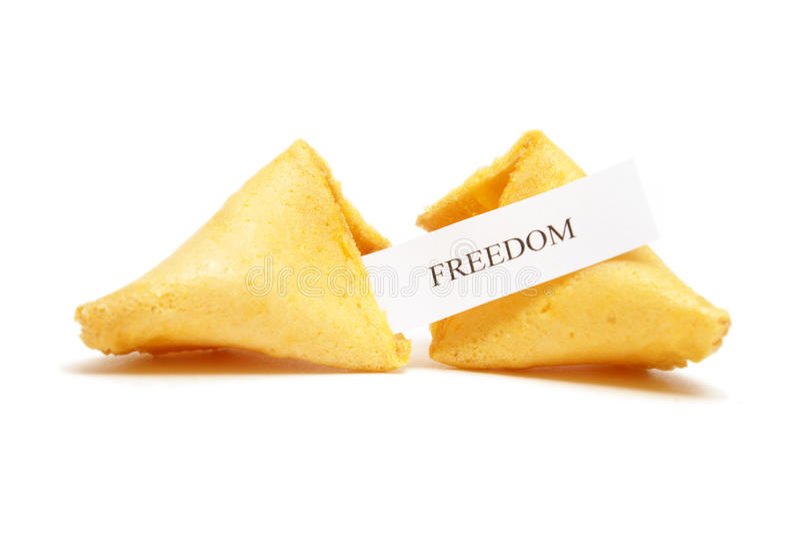 Biscuit de fortune de la liberté photos libres de droits