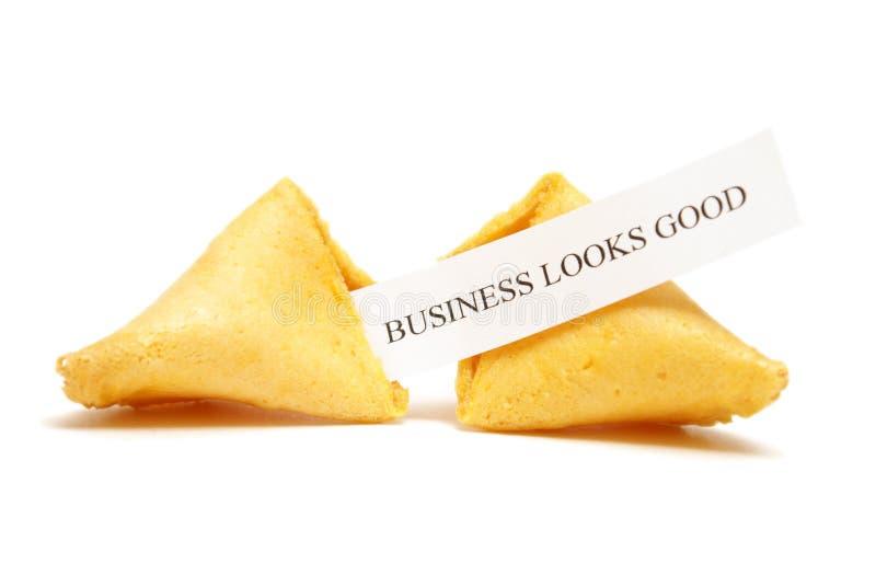 Biscuit de fortune des affaires photo stock