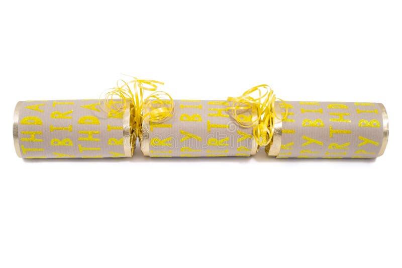 Biscuit de joyeux anniversaire image stock