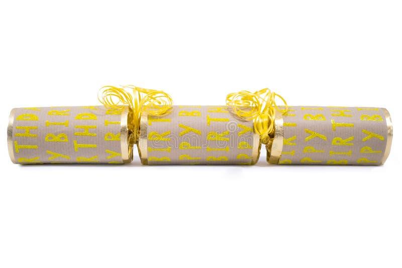 Biscuit de joyeux anniversaire image libre de droits