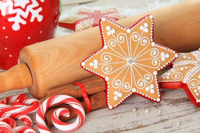 Biscuit de Noël image libre de droits