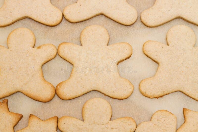 Biscuit de Noël dans la forme de l'homme photographie stock libre de droits