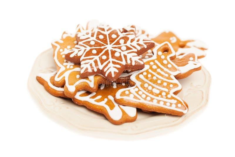 Biscuit de Noël de plat photo libre de droits
