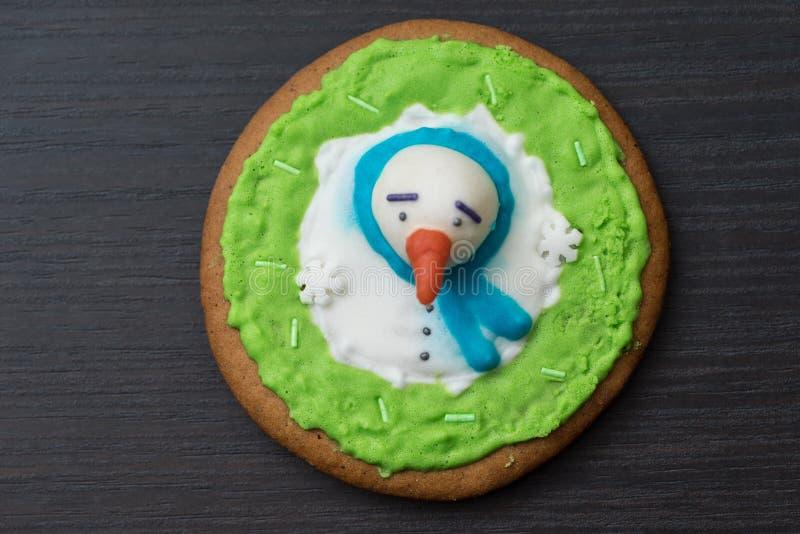 Biscuit de pain d'épice Concept des produits de nourriture et de pâtisserie images libres de droits