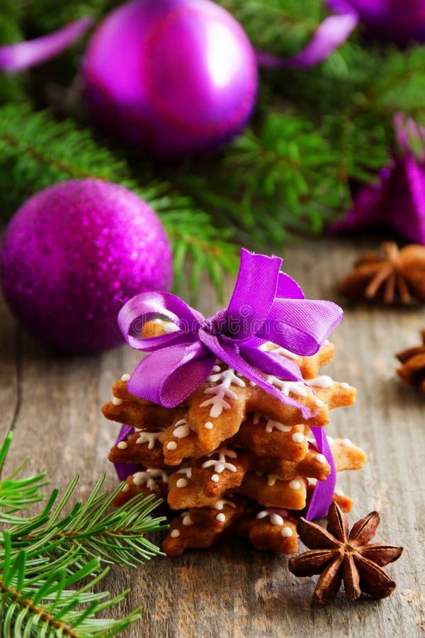 Biscuit de pain d'épice de Noël images libres de droits