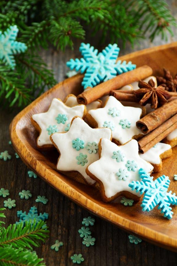 Biscuit de pain d'épice de Noël photo stock