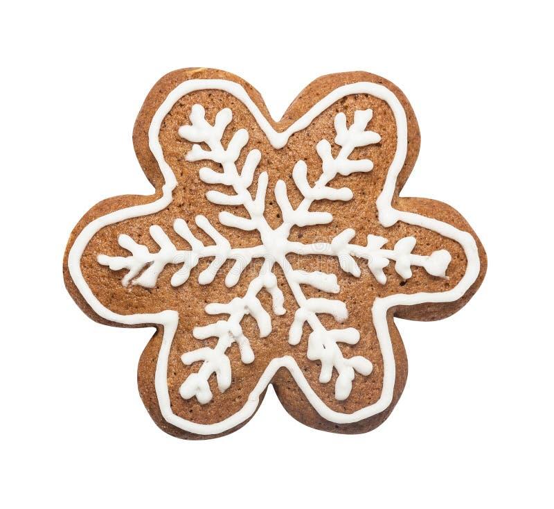 Biscuit de pain d'épice fait sous forme d'étoile de Noël image stock