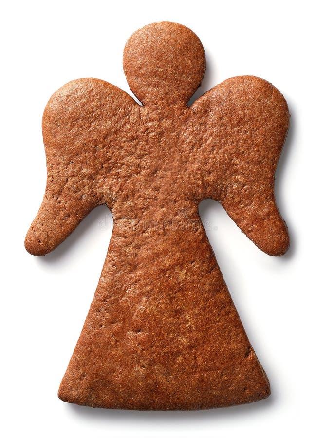 Biscuit de pain d'épice formé par ange photographie stock
